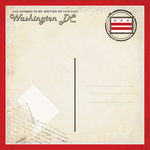 Scrapbook Customs - Vintage Label Collection - 12 x 12 Paper - Washington DC Vintage Companion