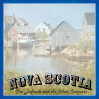 Scrapbook Customs - Vintage Label Collection - 12 x 12 Paper - Nova Scotia Vintage