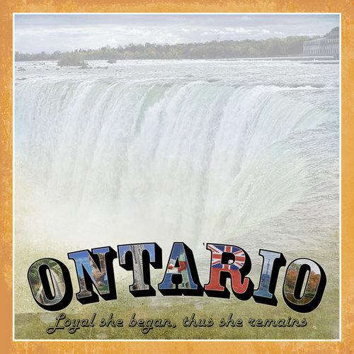 Scrapbook Customs - Vintage Label Collection - 12 x 12 Paper - Ontario Vintage