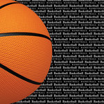 Scrapbook Customs - Sports Collection - 12 x 12 Paper - Basketball Go Big Right