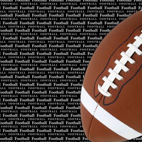Scrapbook Customs - Sports Collection - 12 x 12 Paper - Football Go Big Left