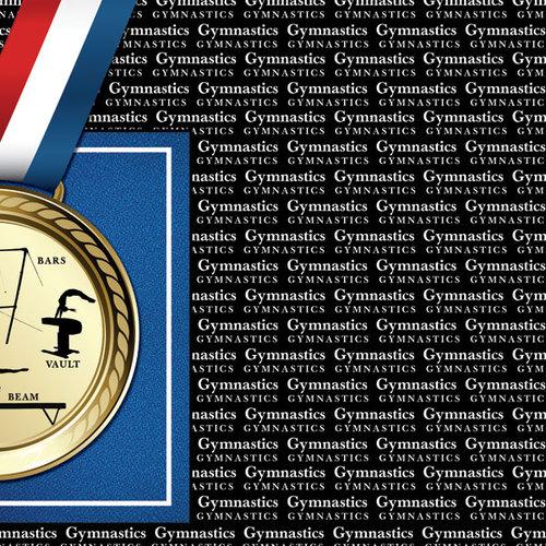 Scrapbook Customs - Sports Collection - 12 x 12 Paper - Gymnastics Go Big Right