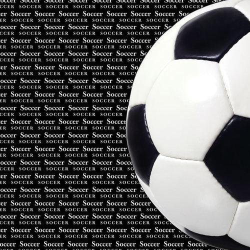 Scrapbook Customs - Sports Collection - 12 x 12 Paper - Soccer Go Big Left