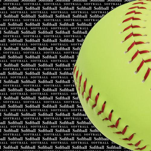Scrapbook Customs - Sports Collection - 12 x 12 Paper - Softball Go Big Left