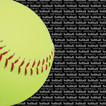 Scrapbook Customs - Sports Collection - 12 x 12 Paper - Softball Go Big Right