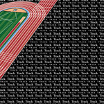 Scrapbook Customs - Sports Collection - 12 x 12 Paper - Track & Field Go Big Right