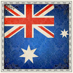 Scrapbook Customs - 12 x 12 Paper - Australia Sightseeing Flag