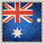 Scrapbook Customs - 12 x 12 Paper - Australia Sightseeing Flag