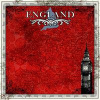 Scrapbook Customs - 12 x 12 Paper - England Sightseeing