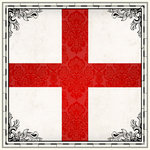 Scrapbook Customs - 12 x 12 Paper - England Sightseeing Flag