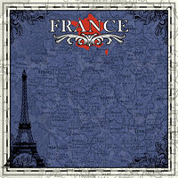 Scrapbook Customs - 12 x 12 Paper - France Sightseeing