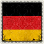 Scrapbook Customs - 12 x 12 Paper - Germany Sightseeing Flag