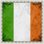 Scrapbook Customs - 12 x 12 Paper - Ireland Sightseeing Flag