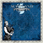 Scrapbook Customs - 12 x 12 Paper - Scotland Sightseeing