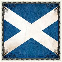 Scrapbook Customs - 12 x 12 Paper - Scotland Sightseeing Flag