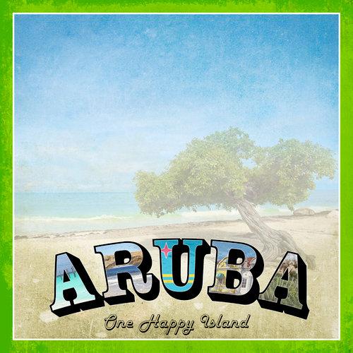 Scrapbook Customs - 12 x 12 Paper - Aruba Paradise Vintage