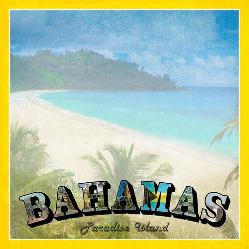 Scrapbook Customs - 12 x 12 Paper - Bahamas Paradise Vintage