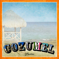 Scrapbook Customs - 12 x 12 Paper - Cozumel Paradise Vintage