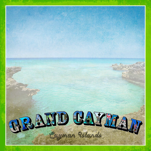 Scrapbook Customs - 12 x 12 Paper - Grand Cayman Paradise Vintage