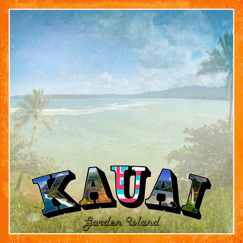 Scrapbook Customs - 12 x 12 Paper - Kauai Paradise Vintage