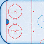Scrapbook Customs - Sports Collection - 12 x 12 Paper - Hockey Rink - Left