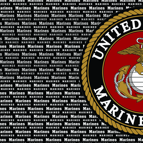 Scrapbook Customs - Military Collection - 12 x 12 Paper - Marine Values Left
