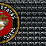 Scrapbook Customs - Military Collection - 12 x 12 Paper - Marine Values Right