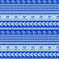 Scrapbook Customs - 12 x 12 Paper - Greece Sightseeing Pattern