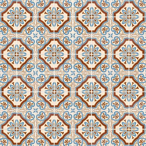 Scrapbook Customs - 12 x 12 Paper - Israel Sightseeing Pattern