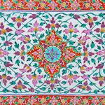 Scrapbook Customs - 12 x 12 Paper - Spain Sightseeing Pattern