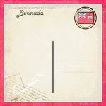 Scrapbook Customs - 12 x 12 Paper - Bermuda - Paradise Vintage Companion