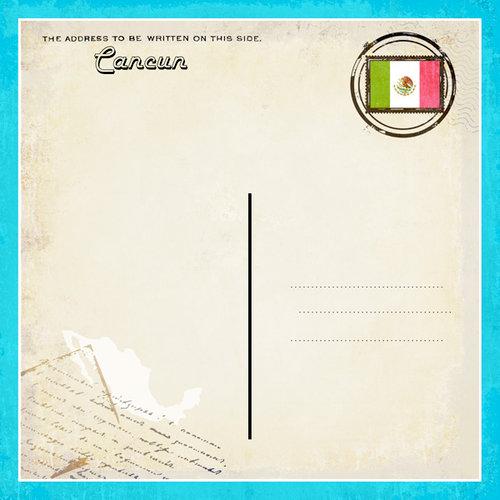 Scrapbook Customs - 12 x 12 Paper - Cancun - Paradise Vintage Companion