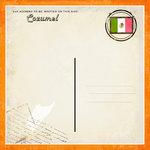 Scrapbook Customs - 12 x 12 Paper - Cozumel - Paradise Vintage Companion
