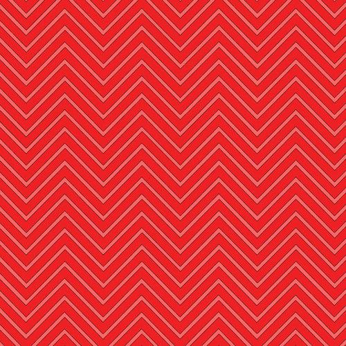 Scrapbook Customs - 12 x 12 Paper - Magical Red Chevron