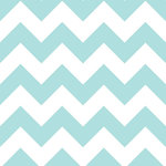 Scrapbook Customs - 12 x 12 Paper - Light Blue Jumbo Chevron