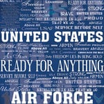 Scrapbook Customs - United States Military Collection - 12 x 12 Paper - Air Force Live For