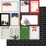 Scrapbook Customs - Sports Pride Collection - 12 x 12 Double Sided Paper - Football - Journal