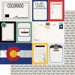 Scrapbook Customs - Vintage Travel Photo Journaling Collection - 12 x 12 Double Sided Paper - Colorado - Journal