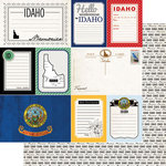 Scrapbook Customs - Vintage Travel Photo Journaling Collection - 12 x 12 Double Sided Paper - Idaho - Journal