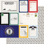 Scrapbook Customs - Vintage Travel Photo Journaling Collection - 12 x 12 Double Sided Paper - Kentucky - Journal