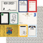 Scrapbook Customs - Vintage Travel Photo Journaling Collection - 12 x 12 Double Sided Paper - New Jersey - Journal