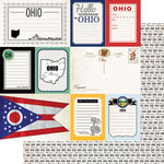 Scrapbook Customs - Vintage Travel Photo Journaling Collection - 12 x 12 Double Sided Paper - Ohio - Journal