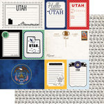 Scrapbook Customs - Vintage Travel Photo Journaling Collection - 12 x 12 Double Sided Paper - Utah - Journal