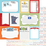 Scrapbook Customs - Travel Photo Journaling Collection - 12 x 12 Double Sided Paper - Minnesota - Journal