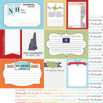 Scrapbook Customs - Travel Photo Journaling Collection - 12 x 12 Double Sided Paper - New Hampshire - Journal