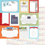 Scrapbook Customs - Travel Photo Journaling Collection - 12 x 12 Double Sided Paper - Utah - Journal