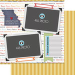 Scrapbook Customs - Travel Photo Journaling Collection - 12 x 12 Double Sided Paper - Missouri - Quick Page Journal