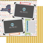 Scrapbook Customs - Travel Photo Journaling Collection - 12 x 12 Double Sided Paper - New York - Quick Page Journal