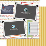 Scrapbook Customs - Travel Photo Journaling Collection - 12 x 12 Double Sided Paper - Oregon - Quick Page Journal