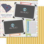 Scrapbook Customs - Travel Photo Journaling Collection - 12 x 12 Double Sided Paper - South Carolina - Quick Page Journal